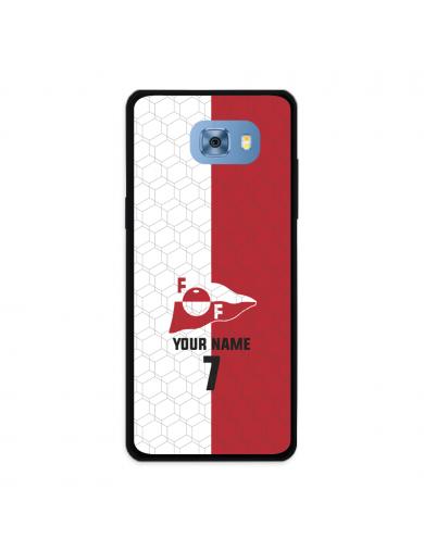 FFK Logo Rød Hvit + Navn Og...